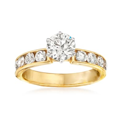 1.81 ct. t.w. Certified Diamond Engagement Ring in 14kt Yellow Gold