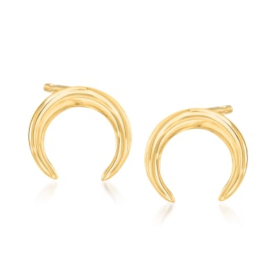 14kt Yellow Gold Mini Crescent Earrings