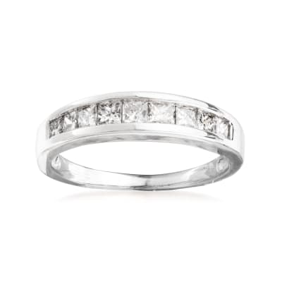 C. 2000 Vintage .70 ct. t.w. Diamond Ring in 14kt White Gold