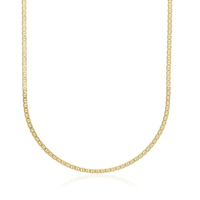Men's 3mm 14kt Yellow Gold Marine Chain Necklace