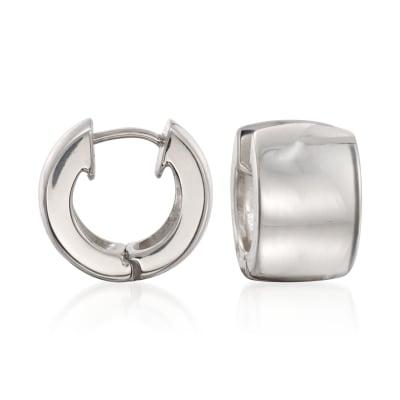 Zina Sterling Silver Huggie Hoop Earrings
