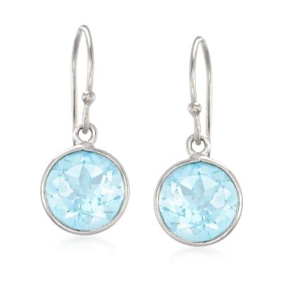 5.00 ct. t.w. Sky Blue Topaz Drop Earrings in Sterling Silver