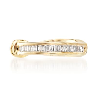 Baguette Diamond-Accented Single Ear Cuff in 14kt Yellow Gold