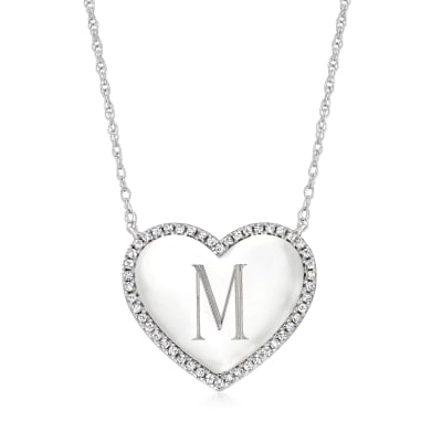 .25 ct. t.w. Diamond Heart Necklace in Sterling Silver