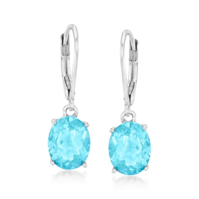 7.00 ct. t.w. Sky Blue Topaz Drop Earrings in Sterling Silver