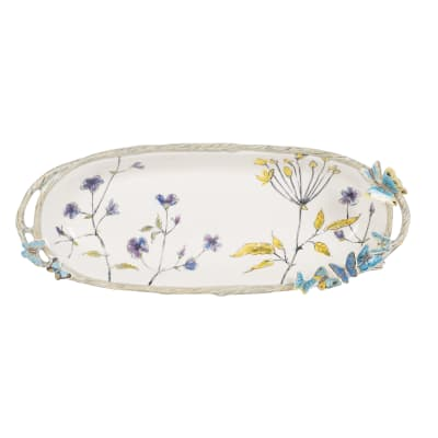 "Fitz and Floyd ""Butterfly Fields"" Bread Tray"