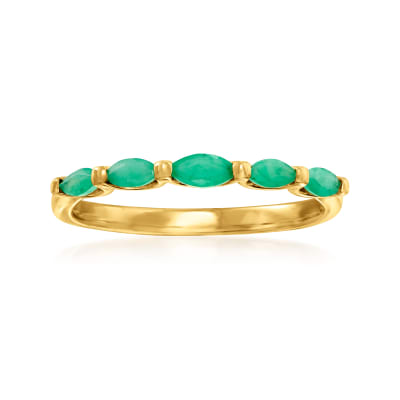 .40 ct. t.w. Emerald Ring in 14kt Yellow Gold
