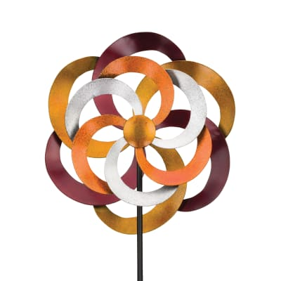 "Regal ""Swirl"" Metal Outdoor Wind Spinner"