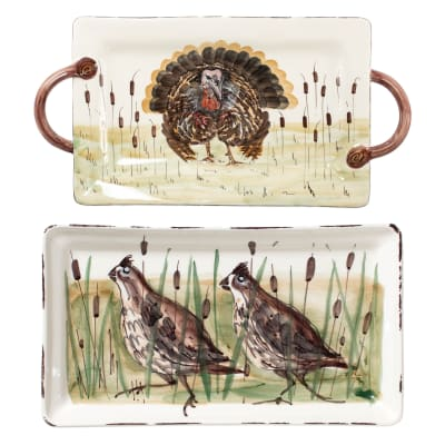 "Vietri ""Wildlife"" Rectangular Platter from Italy"