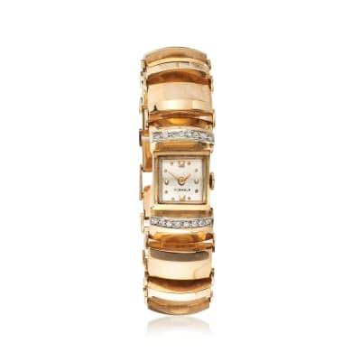C. 1930 Vintage Women's .35 ct. t.w. Diamond Watch in 14kt Yellow Gold