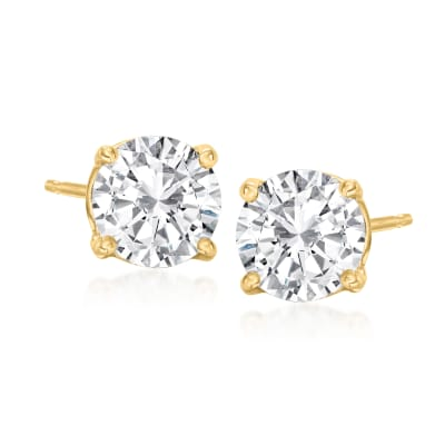 1.75 ct. t.w. Diamond Stud Earrings in 14kt Yellow Gold