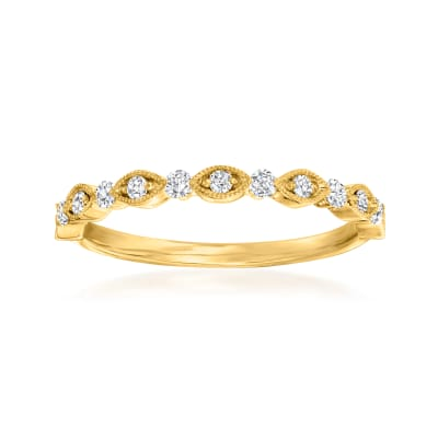 Henri Daussi .20 ct. t.w. Diamond Wedding Ring in 14kt Yellow Gold