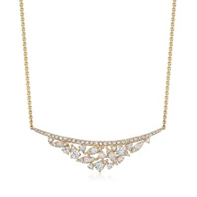 .77 ct. t.w. Diamond Bib Necklace in 18kt Yellow Gold