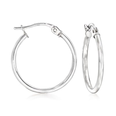 14kt White Gold Hoop Earrings