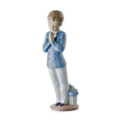 "Nao ""A Time to Pray"" First Communion Porcelain Figurine"