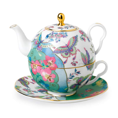 "Wedgwood ""Butterfly Bloom"" Tea for One Teapot Set"