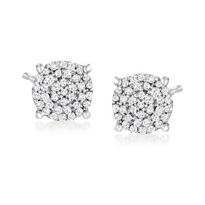 .25 ct. t.w. Diamond Cluster Earrings in Sterling Silver