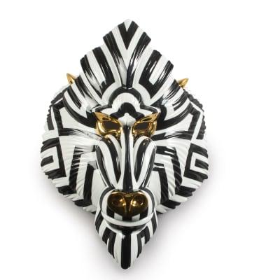 "Lladro ""Mandrill Mask"" Porcelain Figurine"