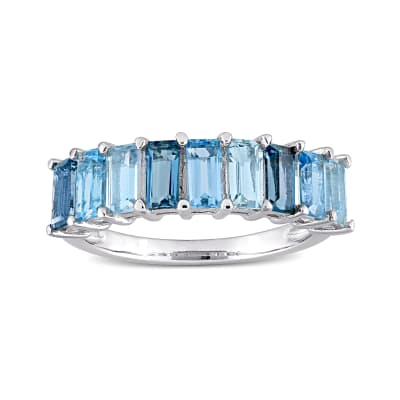 .70 ct. t.w. Tonal Blue Topaz Ring in Sterling Silver