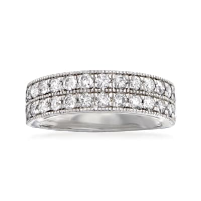 1.00 ct. t.w. Diamond Double-Row Ring in Sterling Silver