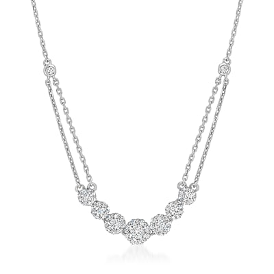 1.00 ct. t.w. Diamond Necklace in 14kt White Gold