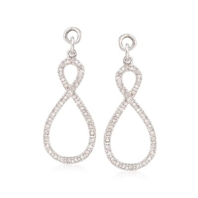 .25 ct. t.w. Diamond Abstract Infinity Earring Jackets in Sterling Silver