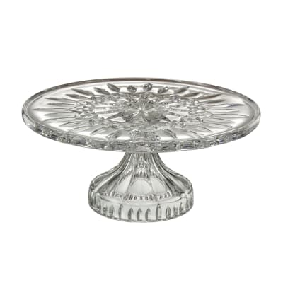 "Waterford Crystal ""Gift Bar"" Lismore Footed Cake Plate"