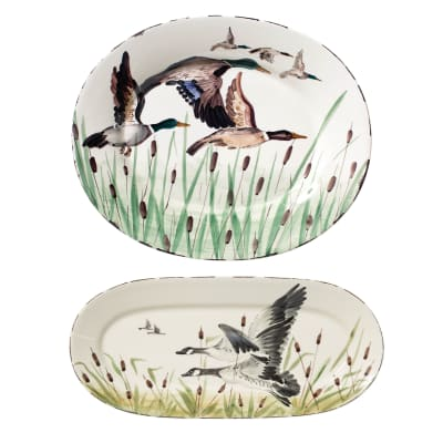 "Vietri ""Wildlife"" Oval Platter from Italy"