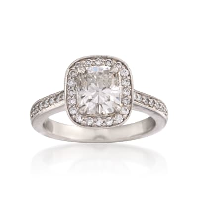 1.85 ct. t.w. Certified Diamond Engagement Ring in Platinum