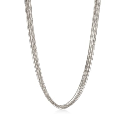 Italian Sterling Silver Bead Chain Necklace