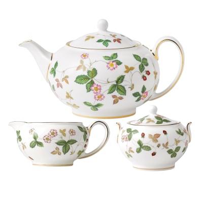 "Wedgwood ""Wild Strawberry"" Tea Service"