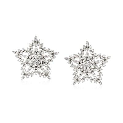 .75 ct. t.w. Diamond Star Stud Earrings in Sterling Silver