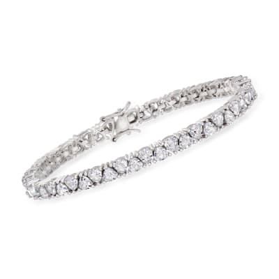10.00 ct. t.w. CZ Tennis Bracelet in Sterling Silver