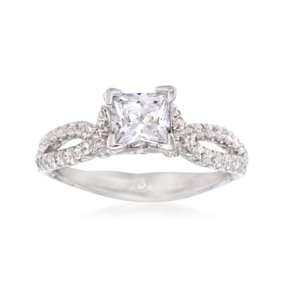 Gabriel Designs .32 ct. t.w. Diamond Engagement Ring Setting in 14kt White Gold