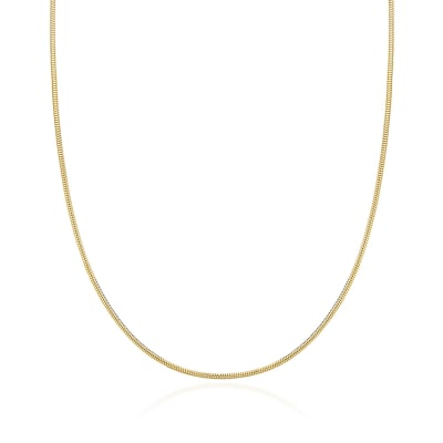 1.4mm 14kt Yellow Gold Snake Chain