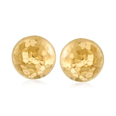 Italian 18kt Gold Over Sterling Dome Earrings