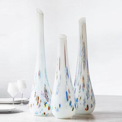 """Vietri """"Murrine"""" Glass Vase from Italy"""