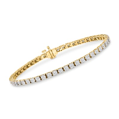 5.00 ct. t.w. Diamond Tennis Bracelet in 14kt Yellow Gold