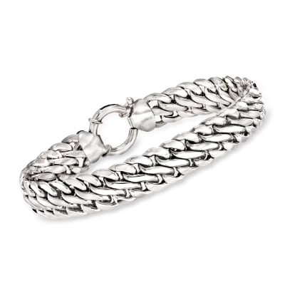 Sterling Silver Double Curb-Link Bracelet