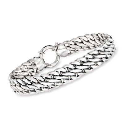 Sterling Silver Double Curb-Link Bracelet