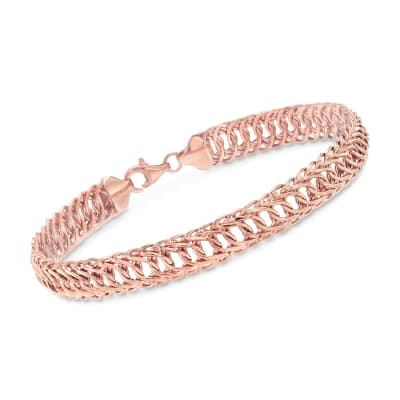 18kt Rose Gold Oval-Link Bracelet