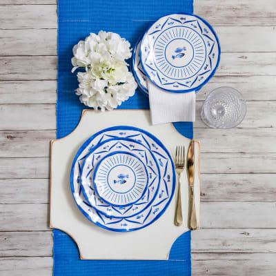 Sardinia Melamine Dinnerware - 12-pc Service for 4