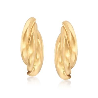 22kt Yellow Gold Triple-Curve Earrings