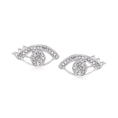 .24 ct. t.w. Diamond Eye Earrings in 18kt White Gold