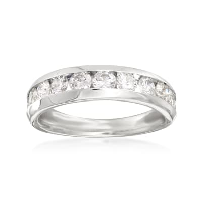 1.00 ct. t.w. Diamond Wedding Ring in 14kt White Gold