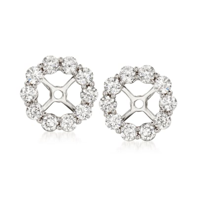 1.00 ct. t.w. Diamond Earring Jackets in 14kt White Gold