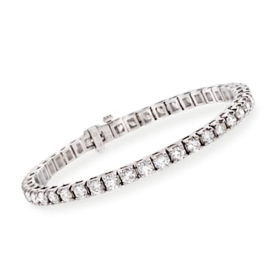 8.00 ct. t.w. Diamond Round Tennis Bracelet in 14kt White Gold