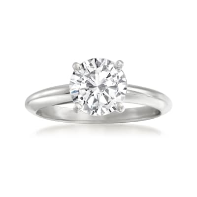 1.51 Carat Certified Diamond Ring in 14kt White Gold