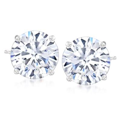8.50 ct. t.w. CZ Stud Earrings in Sterling Silver