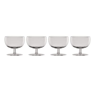 "Lenox ""Valencia"" Set of 4 Smoke Cocktail Glasses"